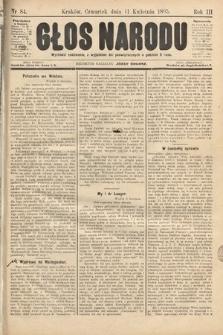 Głos Narodu. 1895, nr84