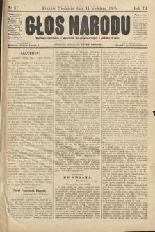 Głos Narodu. 1895, nr87