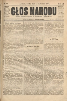Głos Narodu. 1895, nr88