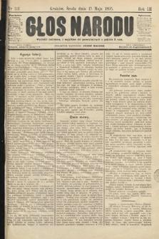 Głos Narodu. 1895, nr111