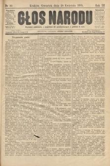 Głos Narodu. 1895, nr89
