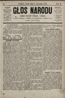 Głos Narodu : dziennik polityczny, społeczny i literacki. 1894, nr1