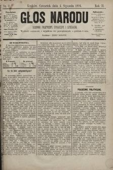 Głos Narodu : dziennik polityczny, społeczny i literacki. 1894, nr2