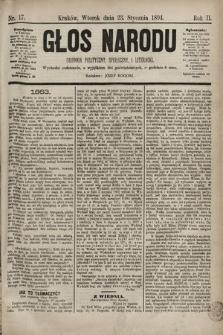 Głos Narodu : dziennik polityczny, społeczny i literacki. 1894, nr17