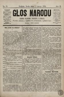 Głos Narodu : dziennik polityczny, społeczny i literacki. 1894, nr29