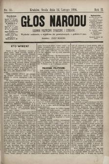Głos Narodu : dziennik polityczny, społeczny i literacki. 1894, nr35