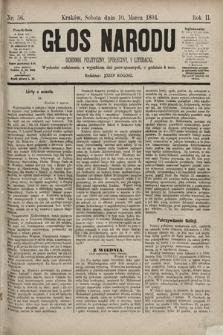 Głos Narodu : dziennik polityczny, społeczny i literacki. 1894, nr56