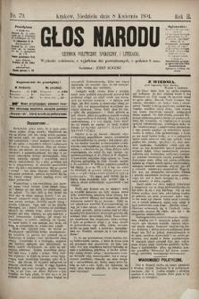 Głos Narodu : dziennik polityczny, społeczny i literacki. 1894, nr79