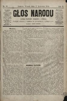 Głos Narodu : dziennik polityczny, społeczny i literacki. 1894, nr86