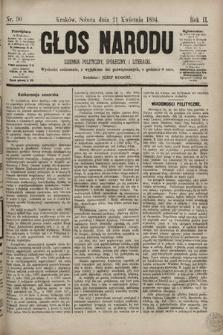 Głos Narodu : dziennik polityczny, społeczny i literacki. 1894, nr90
