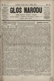 Głos Narodu : dziennik polityczny, społeczny i literacki. 1894, nr99