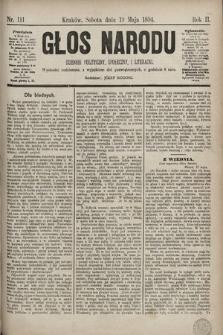 Głos Narodu : dziennik polityczny, społeczny i literacki. 1894, nr111