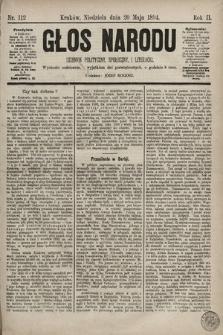 Głos Narodu : dziennik polityczny, społeczny i literacki. 1894, nr112