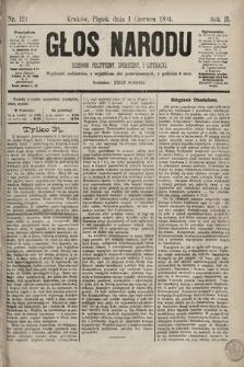 Głos Narodu : dziennik polityczny, społeczny i literacki. 1894, nr121