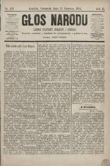 Głos Narodu : dziennik polityczny, społeczny i literacki. 1894, nr138