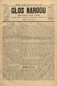Głos Narodu : dziennik polityczny, społeczny i literacki. 1894, nr188