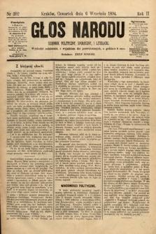 Głos Narodu : dziennik polityczny, społeczny i literacki. 1894, nr202