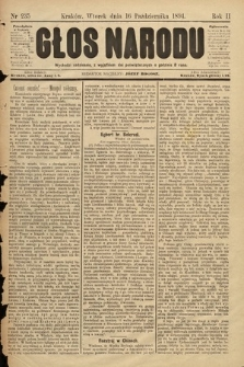 Głos Narodu. 1894, nr235