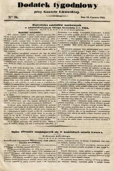 Dodatek Tygodniowy przy Gazecie Lwowskiej. 1855, nr24