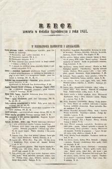 Rzecz zawarta w Dodatku Tygodniowym zroku 1857