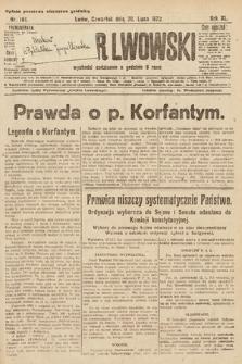 Kurjer Lwowski. 1922, nr161
