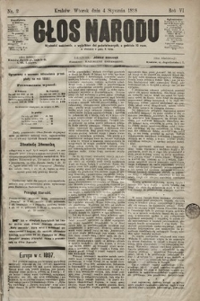 Głos Narodu. 1898, nr2