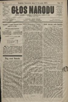 Głos Narodu. 1898, nr4