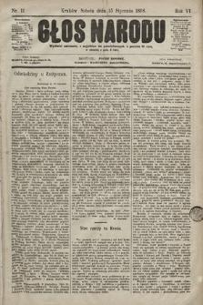 Głos Narodu. 1898, nr11