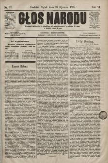 Głos Narodu. 1898, nr22