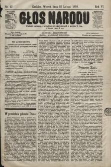 Głos Narodu. 1898, nr42