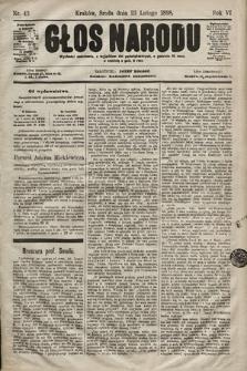 Głos Narodu. 1898, nr43
