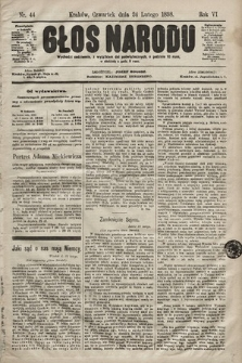 Głos Narodu. 1898, nr44