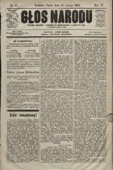 Głos Narodu. 1898, nr45