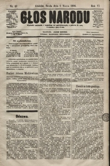 Głos Narodu. 1898, nr49