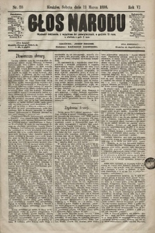 Głos Narodu. 1898, nr58