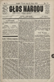 Głos Narodu. 1898, nr71