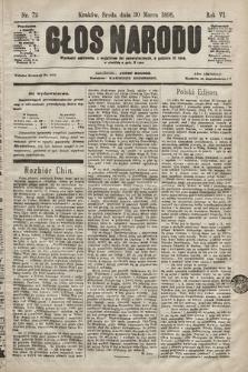 Głos Narodu. 1898, nr72