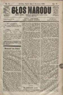 Głos Narodu. 1898, nr74