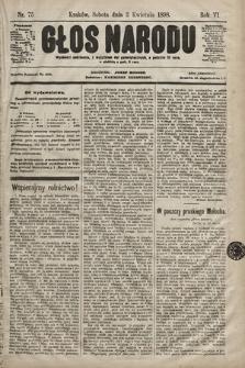 Głos Narodu. 1898, nr75