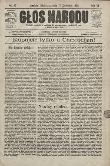Głos Narodu. 1898, nr87