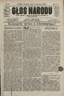 Głos Narodu. 1898, nr90