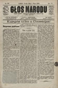 Głos Narodu. 1898, nr101