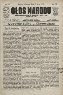 Głos Narodu. 1898, nr111