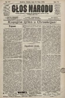 Głos Narodu. 1898, nr115