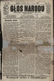 Głos Narodu. 1898, nr130 [skonfiskowany]