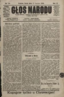 Głos Narodu. 1898, nr134