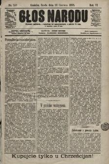 Głos Narodu. 1898, nr140