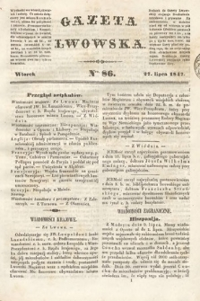 Gazeta Lwowska. 1847, nr 86
