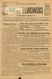 Kurjer Lwowski. 1923, nr172