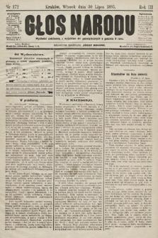 Głos Narodu. 1895, nr172